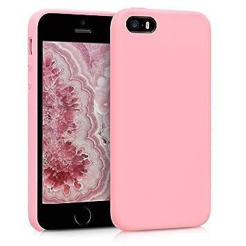 kwmobile Funda compatible con Apple iPhone SE / 5 / 5S - Carcasa de TPU para móvil - Cover trasero en rosa chicle