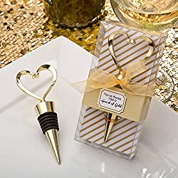 Fashioncraft Gold Heart Design Metal Wine Bottle Stopper (48)