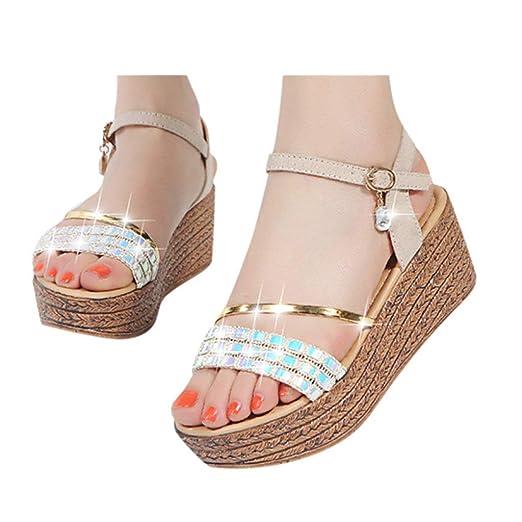 402c31bc76928 Amazon.com: Gyouanime Wedge Platform Sandals Dress Shoes High Heel ...