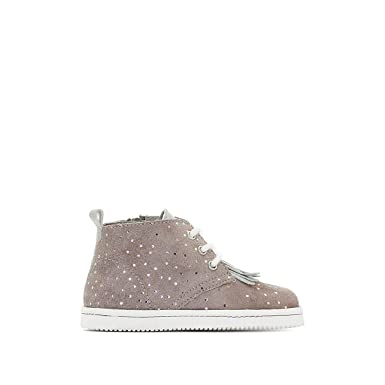 007d0047ca0c4 Amazon.com: La Redoute Collections Big Girls Lace-Up Leather Ankle ...