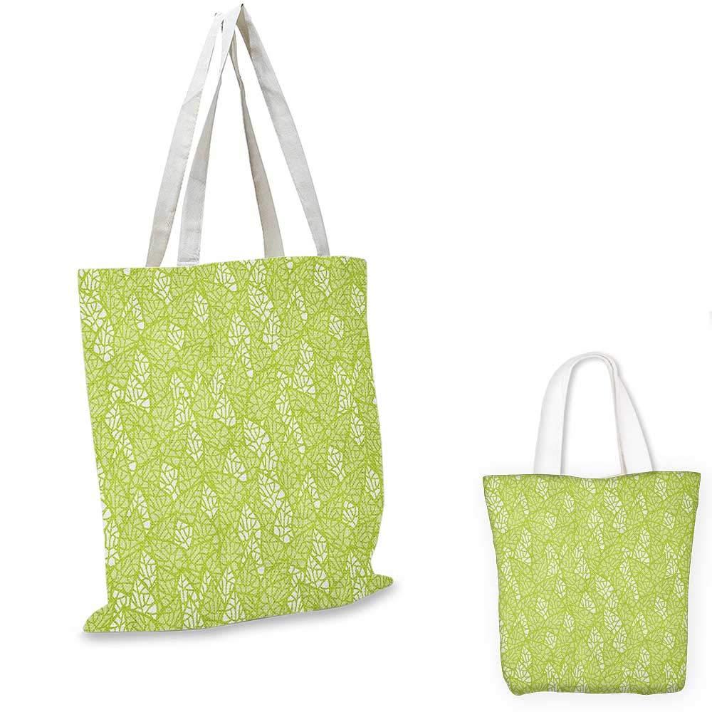 GreenAbstract 装飾葉 ナチュラル レトロ スタイル パターン エコロジー 環境 イエローグリーン ホワイト 15