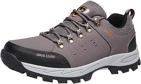Zapatos de Industria y construcción para Hombre,ZARLLE Zapatos de Senderismo Al Aire Libre Ocio Deportes Antideslizantes Trekking Sneakers Zapatos de Montaña para Mujer Hombre,Calzado de Trabajo: Amazon.es: Ropa y accesorios
