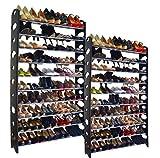 Like Shop 20-tier Shoe Rack 100 Pair Wall Bench Shelf Closet Organizer Storage Box Stand | amazon.com