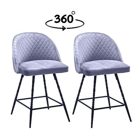 Amazon.com: Haobo Silla de comedor giratoria, sillas ...