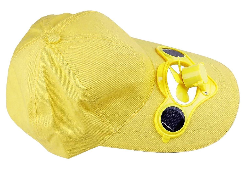 Bigood Summer Sport Outdoor Solar Power Fan Hat Cool Baseball Cap