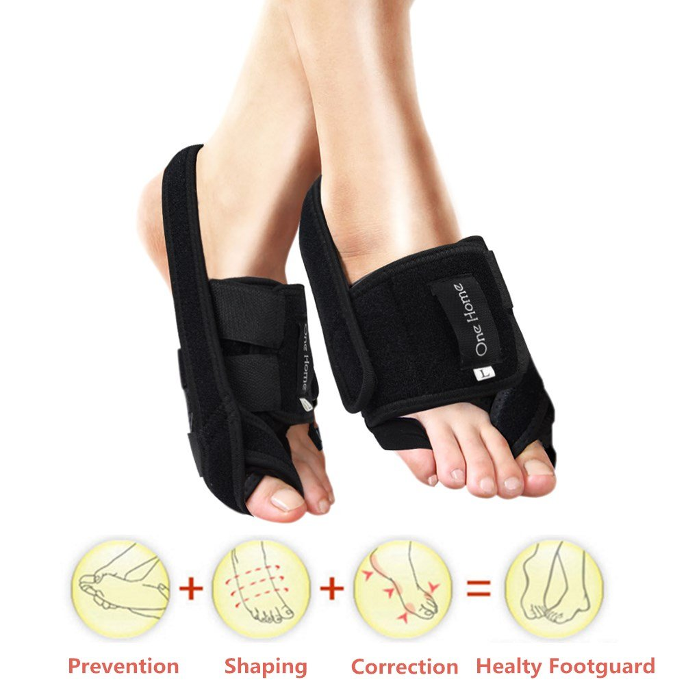 Bunion Splint Hallux Valgus Bunion Protector with Adjustable Velcro Toe Straighteners for Bunions Support Night Bunion Corrector Toe Separators Hammer Toe Pain Relief Kit - 1 pair by Oh!