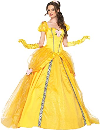 Deluxe Belle Adult Costume - Small  sc 1 st  Amazon.com & Amazon.com: Deluxe Belle Adult Costume - Small: Clothing