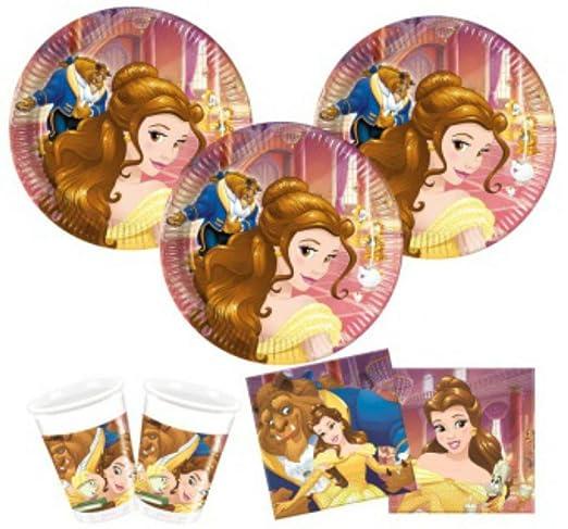 CAPRILO Lote de Cubiertos Infantiles Bella y Bestia Disney ...