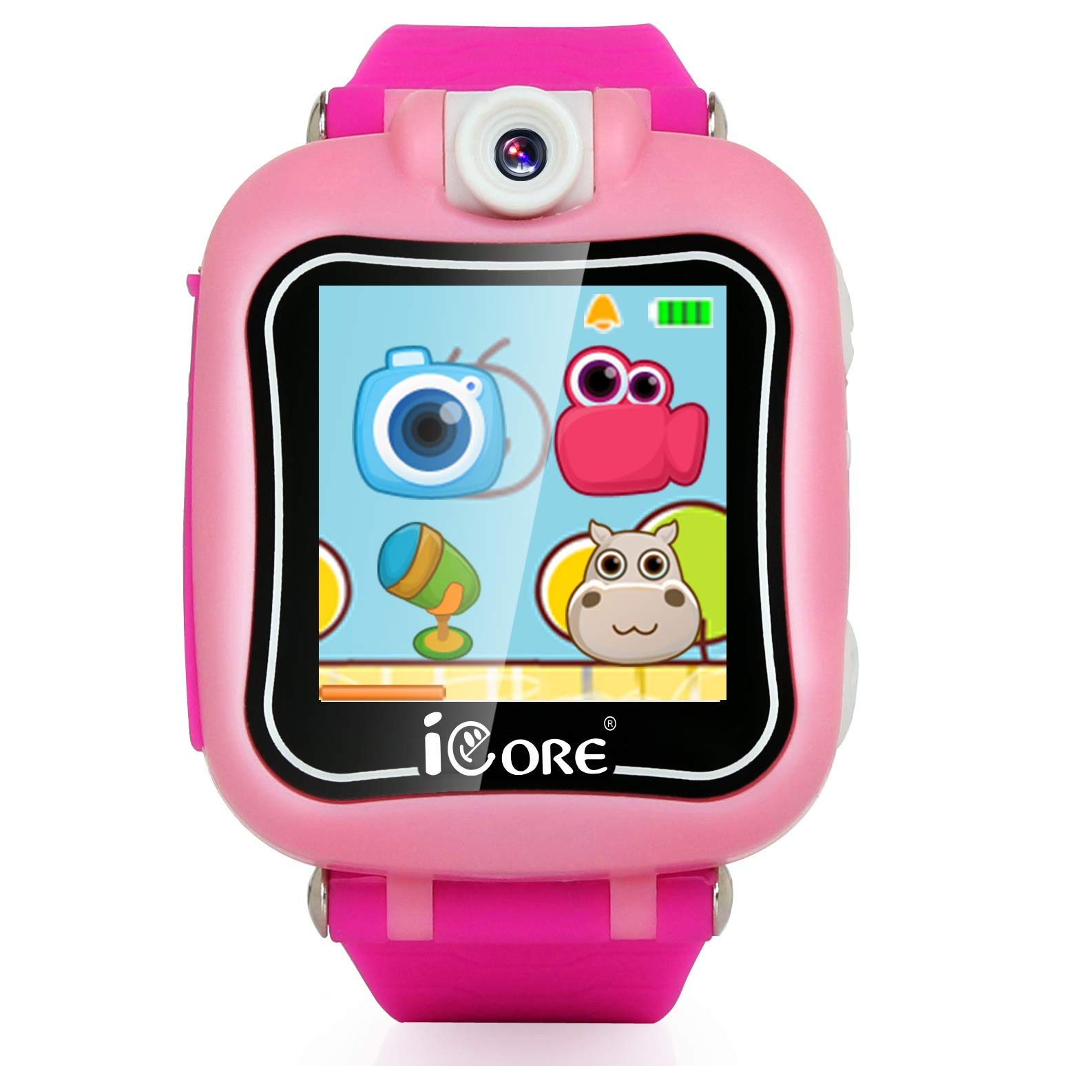 iCore Durable Kids Smartwatch, Electronic Child Smart Watch Video Games, Children Digital Tech Watches, Touch Screen Learning Timer Alarm Clock with Camera for Girls Boys by iCore (Image #2)
