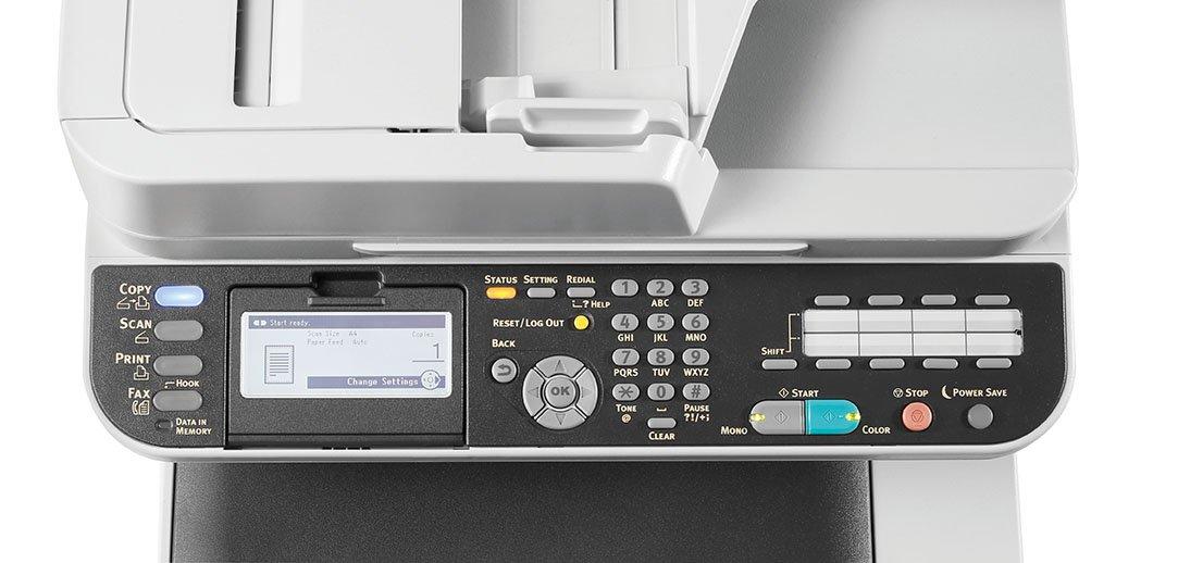 Wi-Fi Fronte//Retro Oki MC363dnw Stampante Multifunzione a Colori con Tecnologia LED A4 26 Pagine al Minuto 4 in 1