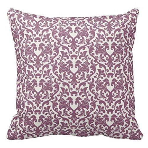 Elegant Damask In Mauve Taupe And Alabaster Pillow Case - Alabaster Sofa
