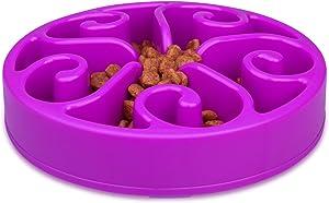 wangstar Slow Pet Bowl Slow Feeder for Dog Cats, Bloat Stop Puzzle Bowl Fun Maze Feeder Slow Feeding Anti-Skid Design