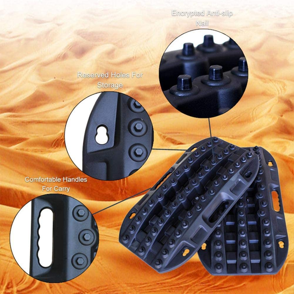 Recovery Tracks Traction Mat Anti-Slip Track Tire Ladder for Sand Mud Snow Track Tire Ladder Traction Boards