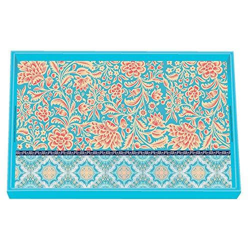 (Michel Design Works Vanity Decoupage Wooden Tray, Orange Cream)