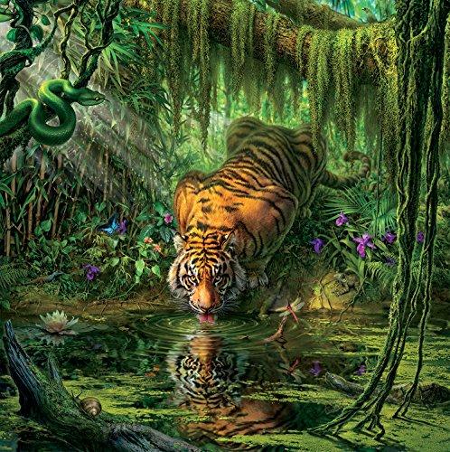 - Ceaco Mark Fredrickson Water's Edge Tiger Jigsaw Puzzle (550 Piece)