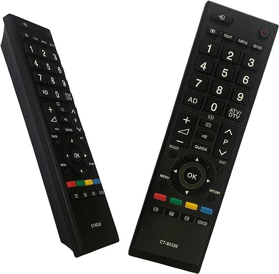 iLovely CT-90326 Mando a Distancia CT-90326 para Toshiba Smart TV Control Remoto Reemplazo para Toshiba TV: Amazon.es: Electrónica
