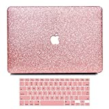 B BELK - MacBook 12'' with Retina Display Case,2 In 1 Bling Crystal Smooth Ultra-Slim Light Weight PC Hard Case With Keyboard Cover For MacBook 12 Inch(Model:A1534) - Shining Rose Golden