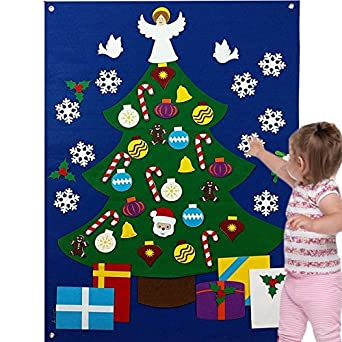 felt christmas tree for kids toddlers wall decoration set flannel storyboard giant 35 ft premium quality - Christmas Story For Toddlers