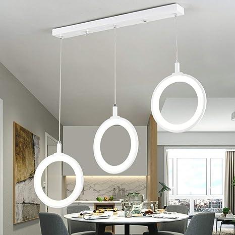 SGWH Lámpara colgante LED Lámpara de mesa moderna de comedor ...