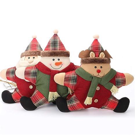 Amazon.com: LGZW - Cojín navideño con diseño de muñeco de ...