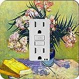 Rikki Knight 1456 Van Gogh Art Still Life with Oleander Design Light Switch Plate