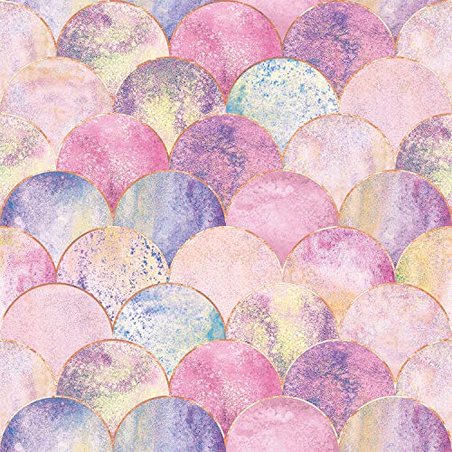 AMAZING WALL Peel and Stick Wallpaper Pink Scale Ombre Self Adhesive 500cm