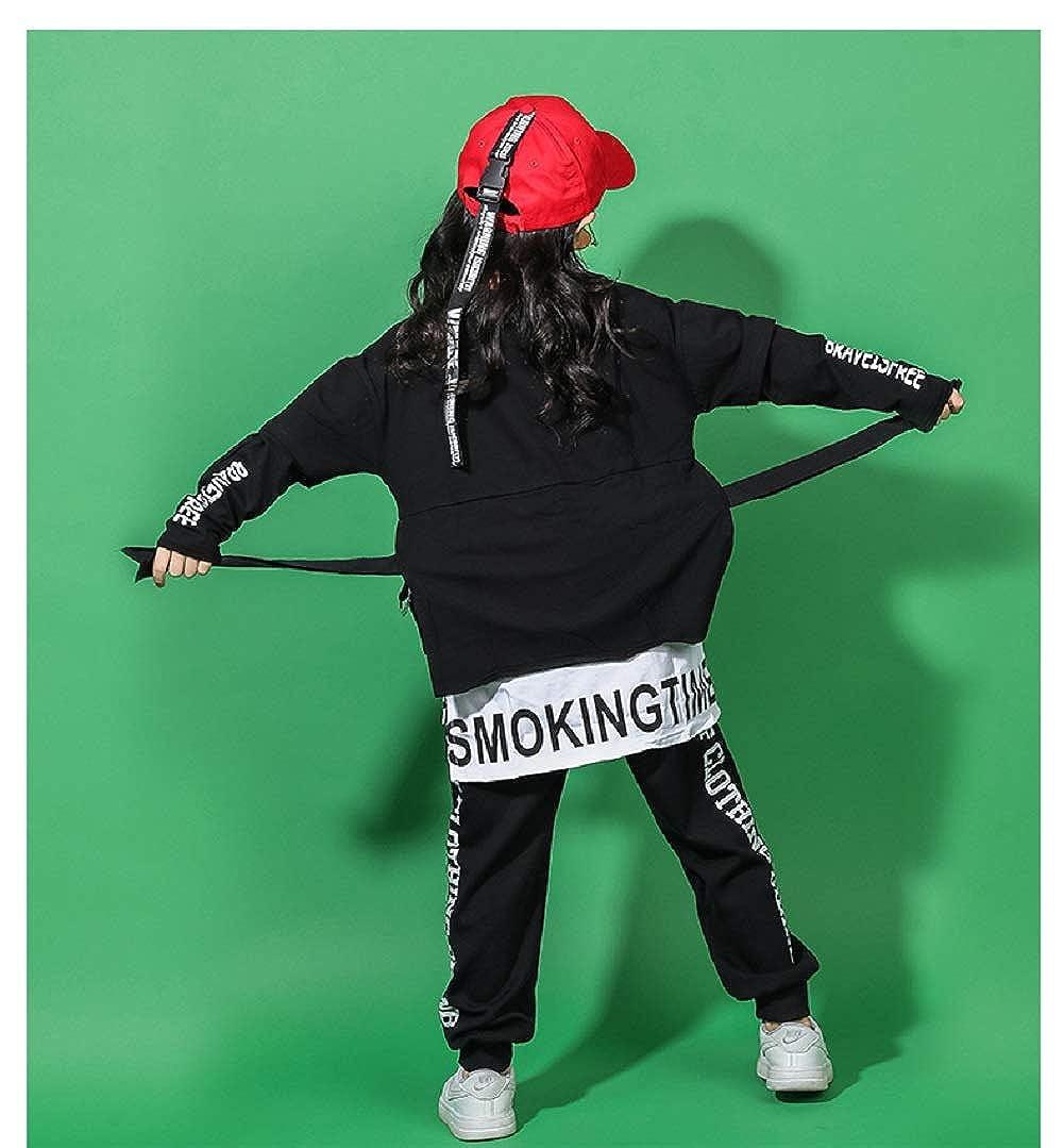 Traje de Baile de Hip Hop para niños niñas Conjunto de Ropa ...