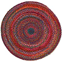 HF by LT Cotton Carnivale Braided Round Rug, 3, Multi-Colored