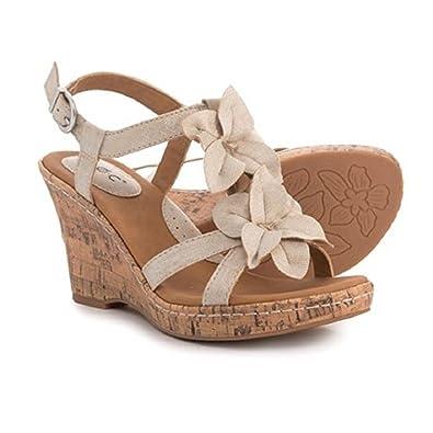 eaea79e6767ab Born b.o.c Edith Wedge Champagne Women s Sandals Beige Size  Size  7 ...