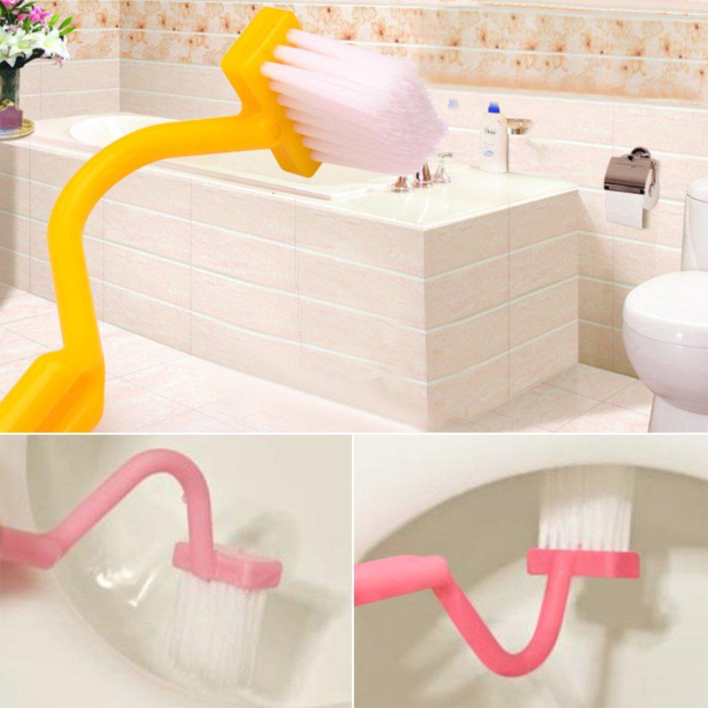 1 cepillo de inodoro portátil en forma de S para el baño, con mango curvado curvado, cepillo de limpieza para ventana, ranura de ventana, cepillo de limpieza Brussels08