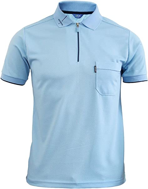 Zip Polo Shirt Short Sleeve Dri Fit
