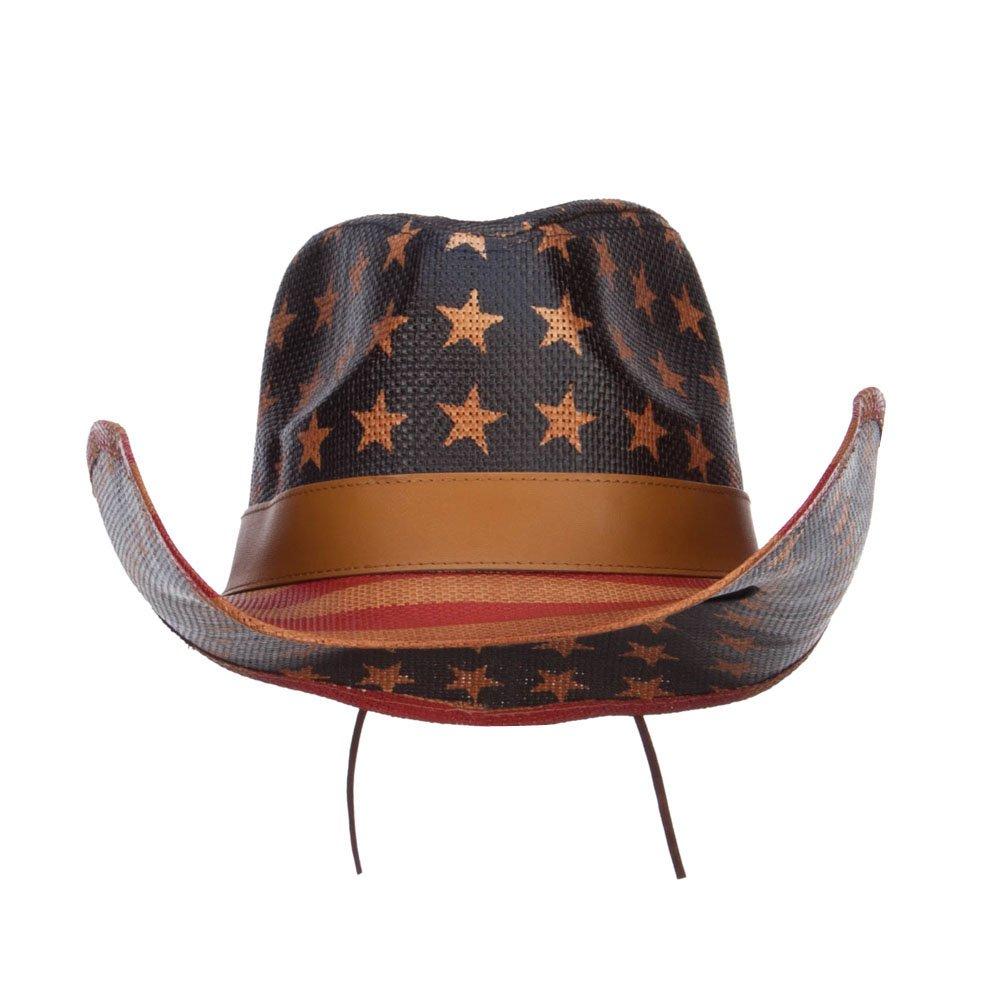 American Flag Designed Cowboy Hat