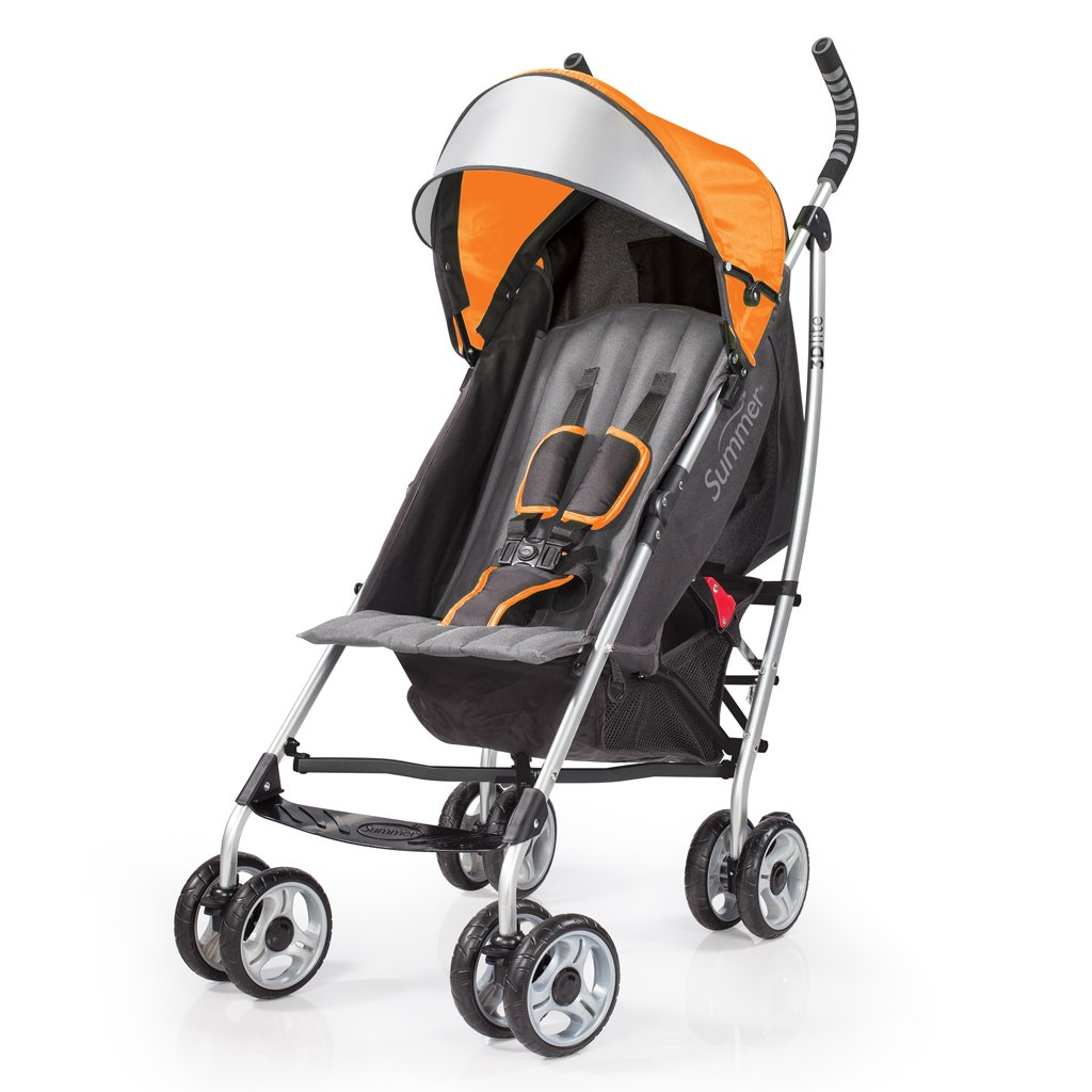 Summer Infant 3Dlite Convenience Stroller, Tangerine