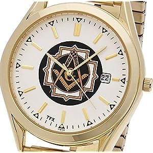 Men's Two Tone TFX by Bulova Masonic Blue Lodge Watch w/ Expansion Bracelet