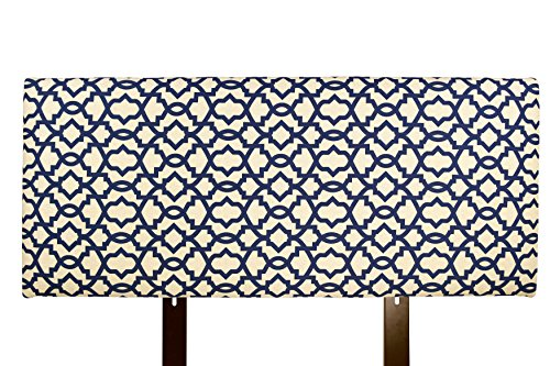 UPC 841102100287, MJL Furniture Designs Alice Padded Bedroom Headboard Contemporary Styled Bedroom Décor, Sheffield Series Headboard, Indigo Finish, Eastern King Sized, USA Made