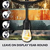 SUNTHIN 2 Pack 48FT Outdoor String Lights with 11W
