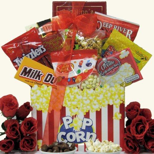 GreatArrivals Gift Baskets Valentine's Day Movie Basket, Date Night, 4 Pound