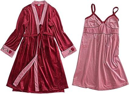 Zjcpow Pijama de Mujer 2-Piece Sistemas Pijamas Thin ...