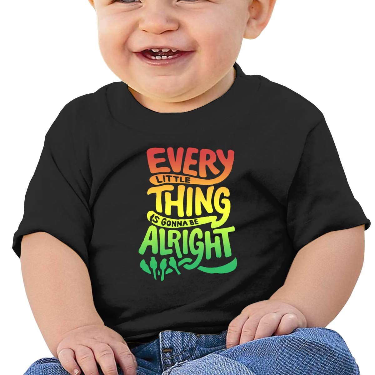 Kangtians Baby Every Little Thing is Gonna Be Alright Shirt Childrens Cotton Tee