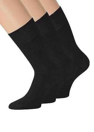gesamte Sammlung neues Design bieten eine große Auswahl an Damen Bambus Socken schwarz und bunt antibakteriell soft und weich mit  Komfortbund Gr 35-38 39-42, 3 Paar
