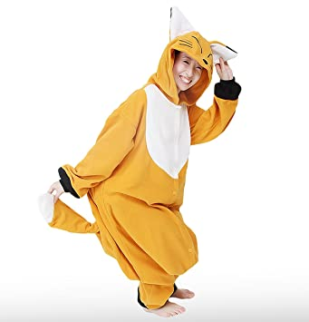 Japan Official Sazac Animals Onesie Fox Kigurumi Pajamas Fox Costume Cosplay 6c24be425f7c1