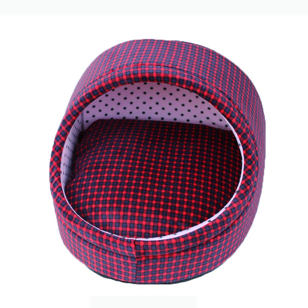 Red M 444133cm Red M 444133cm D_HOME Kennel, Pet Nest, Dog Bed, Washable, Cat Litter, Pet Supplies, Warm Nest, Four Seasons, Pet Bed, (red, Light Pink) (color   RED, Size   M 44  41  33cm)