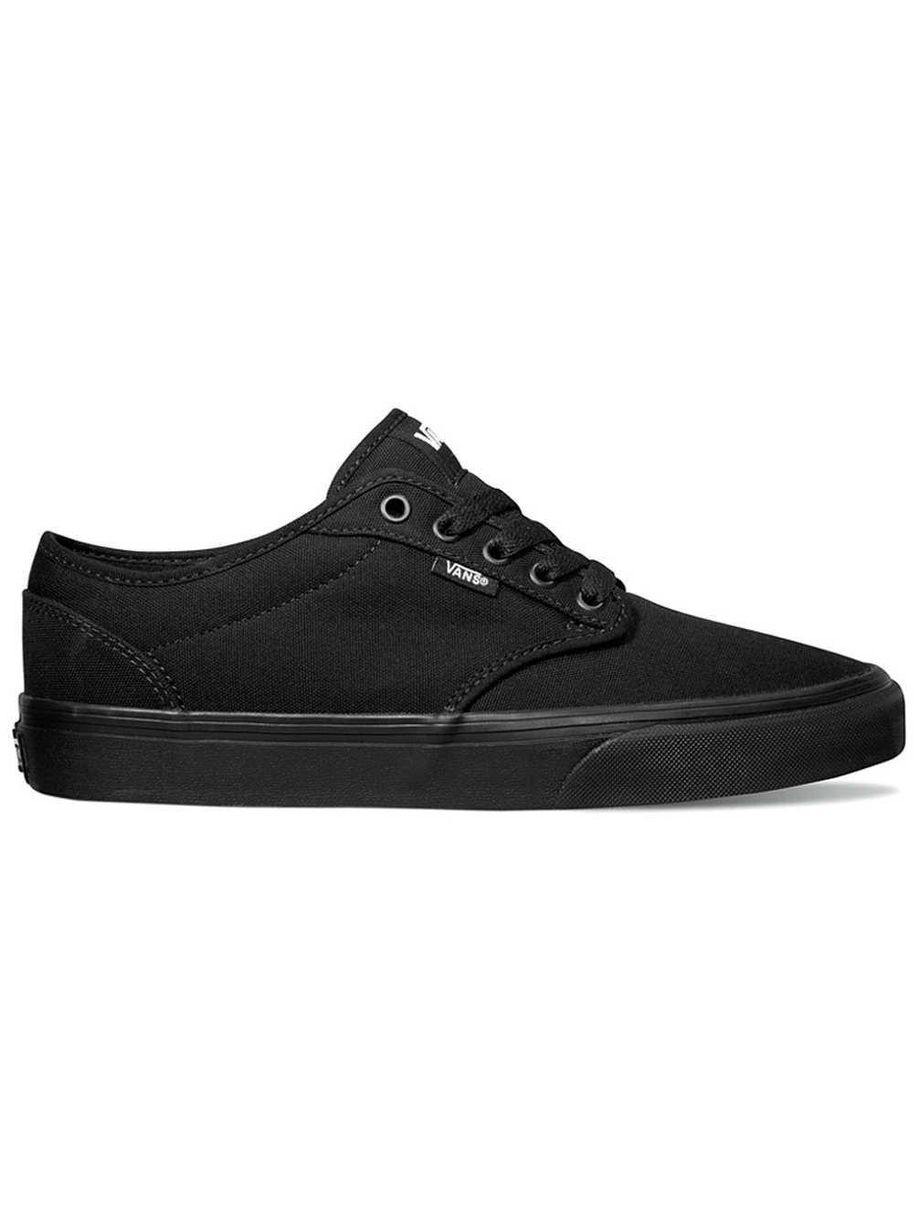 Vans Men's VANS ATWOOD (CANVAS) SKATE SHOES 10 Men US (BLACK/BLACK)