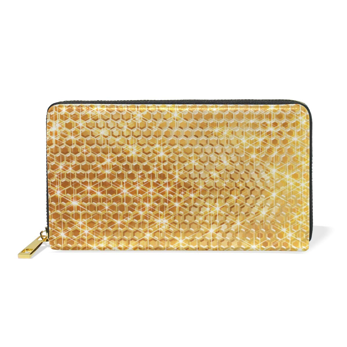 GIOVANIOR Gold Backgrounds Womens Clutch Purses Organizer And Handbags Zip Around Wallet