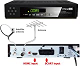 UK FULL HD COMBO 1080p Freeview HD + FreeSAT HD Satellite Receiver Tuner + RECORDER For Digital TV Set Top SKY Box Digi Box Terrestrial SCART + HDMI & Scart Connections