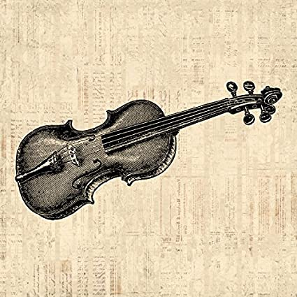 Amazon.com: Antique Violin Wall Art Print for Home Decoration with ...