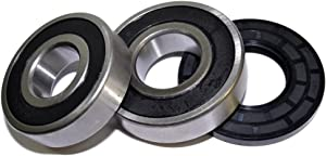 HQRP Bearing and Seal Kit for Frigidaire FWT445GES2 FWT449GFS0 FWT449GFS1 FWT449GFS2 FWT645RHS0 FWT645RHS1 Front Load Washing Machine Washer Tub + HQRP Coaster