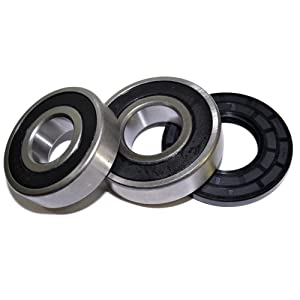 HQRP Bearing and Seal Kit for Frigidaire FTF530ES1 FTF530FS0 FTF530FS1 FTF530FS2 FTF530FS3 FTF530FS4 Front Load Washing Machine Washer Tub + HQRP Coaster