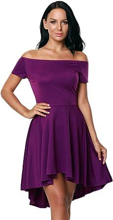 Purple Women Off Shoulder Sleeve High