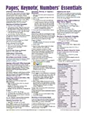 img - for Pages, Keynote, & Numbers for Mac Essentials, versions x.2 Quick Reference Guide (Cheat Sheet of Instructions, Tips & Shortcuts - Laminated Card) book / textbook / text book